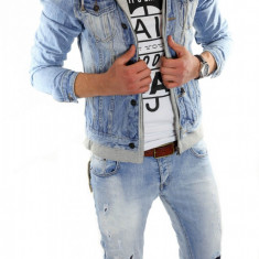 Geaca barbati - Geaca de blugi tip ZARA - geaca slim fit - geaca fashion LICHIDARE DE STOC 6083