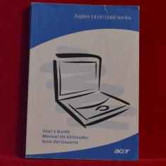 Carte- Manual de utilizare ACER 1410/1680 Series - Ghid utilizator- Laptop #188 - Carte hardware