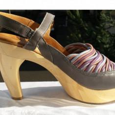 Sandale dama Aldo, Piele naturala - Sandale piele naturala-sandale femei ITALIA nr.37 originale stare de nou