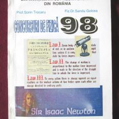 CONCURSURI DE FIZICA 98, S. Trocaru / S. Golcea, 1998. Cu dedicatie si autograf - Culegere Fizica, Niculescu