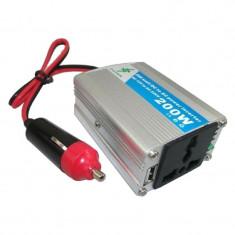 Invertor 12V-220V cu putere 200W - Invertor Auto