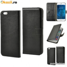 Husa iPhone 6 4.7 Flip Portofel - Husa Telefon Apple, Negru