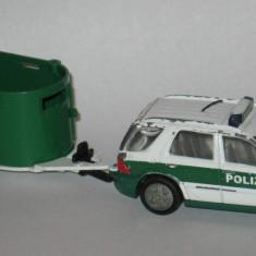 SIKU - Mercedes Benz ML + Remorca Polizei - Macheta auto Alta