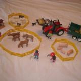 Masinuta de jucarie Playmobil, Plastic - Playmobil City 4496 - Tractor cu remorca baloti paie + animale ferma