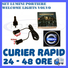 SET 2 x LUMINI LOGO LASER VOLVO GENERATIA 6 (12V, CAMION 24V) - LED CREE 7W - Logo Marca ZDM