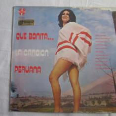 Various – Que Bonita... La Canción Peruana _ vinyl(LP, album) Peru - Muzica Latino Altele, VINIL