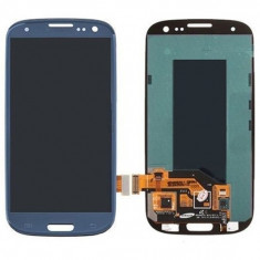 Ansamblu LCD Display Laptop Touchscreen touch screen Samsung Galaxy S3 I9305 Blue Albastru cu rama ORIGINAL - Display LCD