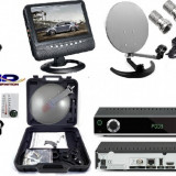 TV SATELIT CAMPING  -TIR-RULOTA-kit cu televizor  12 v