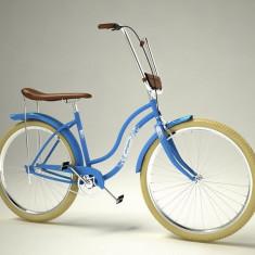 Bicicleta retro - Pegas Strada 2 - 3 viteze, Bleu