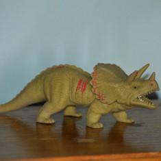 Figurina dinozaur, cauciuc moale, Triceratops, 19x6cm - Figurina Dinozauri
