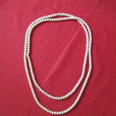 Colier margele simplu si frumos, sirag margele stil perla/sidef - Colier fashion