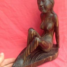 Arta Africana - Nud Femeie din lemn de Macore (par african) !!! - Arta din Africa