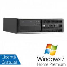 Sisteme desktop fara monitor - HP 8300 SFF, Intel Core i3-3220 Gen 3, 3.3 Ghz, 4GB DDR3, 250GB, DVD-RW + Windows 7 Home Premium