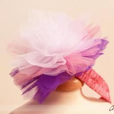 Bentita Party Lilac Pompom (Circumferinta cap: la comanda)