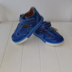 Sandale copii - Sandale piele baieti Blue 404 (Culoare: albastru, Marime incaltaminte: 19)