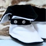 Cizmulite botez Micul Muschetar (Culoare: alb, Lungime talpa: 10 cm)