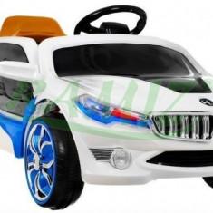 Masinuta electrica copii - Vehicul cu acumulator BMW i8 Alb Ramiz