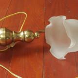 Veioza / lampa cu abajur - model deosebit din alama / bronz !!!