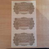 25 Bani 1917 BGR 3 Serii Consecutive Aunc UNC, An: 1917