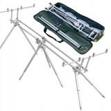 Rod Pod Baracuda #9 Pentru 4 Lansete  Asemanator Inox  + Geanta