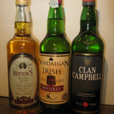 3 sticle whisky, cl 70 gr 40 ani 70/80/90