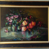 Tablou-Trandafiri, Flori, Ulei, Realism