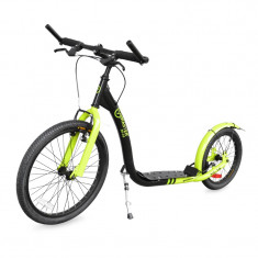 Bicicleta electrice - Trotineta Scooter Adulti, Master Sport, Spartan, Negru-Verde, 20-16 inch - OLN-ONL3-MAS-S020BLACK-GR