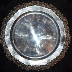 TAVA - ARGINT 925 - Mare - Rotunda -Frumos decorata -Fructiera -703g. -3.4lei/gr