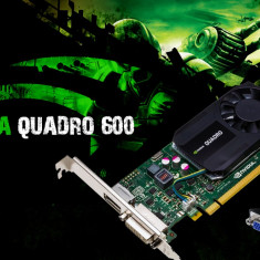Placa video PC PNYI-E NVDIA Quadro 600 1GB DDR3 128BIT DVI RACIRE ACTIVA, PCI Express, nVidia