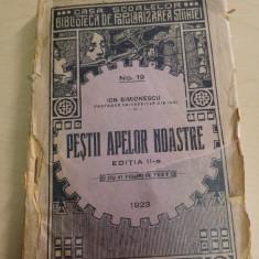 Pestii apelor noastre - Ion Simionescu/ 1923 - Carte Zoologie