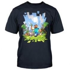 Tricou Minecraft Adventure T-Shirt 7-8 ani - NOU, ORIGINAL J!NX !!!, Marime: YM, Culoare: Din imagine, Baieti