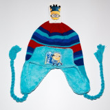 Caciula din tricot Minions albastru ciel - Caciula Copii