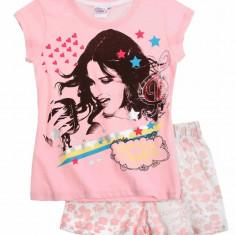 Pijama de vara Disney Violetta roz/alb