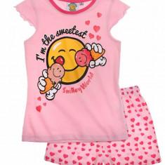 Pijama de vara Smiley roz