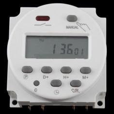 Priza programator temorizator releu cu LCD cu ceas zilnic (7 zile) 220v