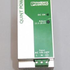 Sursa industriala montaj sina 35mm Phoenix Contact QUINT-PS-100-240AC/24DC/2.5(153)