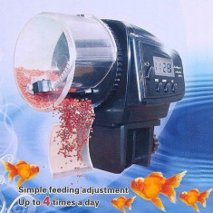 Hranitor automat mancare pesti acvariu acvarii feeder lcd ceas zilnic