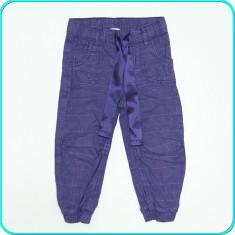 DE FIRMA _ Pantaloni din bumbac, frumosi, comozi, H&M _ fetite | 18-24 luni | 92, Marime: Alta, Culoare: Mov, Fete