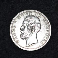 Monede Romania, An: 1901, Argint - MONEDA - ARGINT 900 - 5 LEI 1901 - Carol I - Romania - 25g. - Stare f. buna !