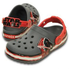 Saboti Crocs Crocband Star Wars Villain Clog (CRC-202851-90H) - Papuci copii Crocs, Marime: 21.5, 23.5, 25.5, 27.5, 29.5, 32.5, 33.5, 34.5, Culoare: Gri