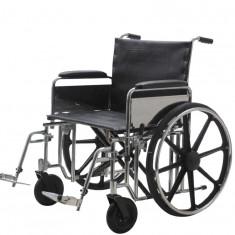Carucior handicap pliabil pentru persoane supraponderale 230 Kg Ortomobil 04010B-55 - Scaun cu rotile