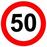 Sticker limita viteza 50 km/h