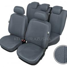 Husa Auto - Huse scaune auto imitatie piele Opel Vectra set huse fata + spate Culoare Gri