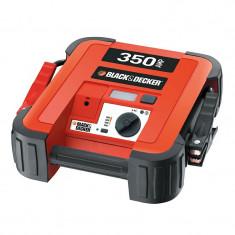 Redresor Auto - Robot pornire Black & Decker 12V/230V, starter 350Amp, 3 leduri, iesire 12V DC si cabluri de 61cm
