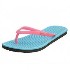 PAPUCI NIKE SOLARSOFT THONG 2 (GS/PS) COD 555624-612 - Papuci dama Nike, Marime: 38.5, Culoare: Albastru, Roz