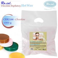 Ceara epilare - Ceara epilat la discuri 1 kg ciocolata ROIAL Italia, ceara depilatoare