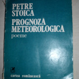 PETRE STOICA (dedicatie/semnatura) PROGNOZA METEOROLOGICA,1981