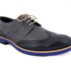 Pantofi barbati - Pantofi Oxford Arthur Gri - Blue