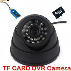 Camera CCTV, Interior, Cu fir, Digital, Color, Dome - Camere supraveghere cu inregistrare pe card. Infrarosu. camera DVR
