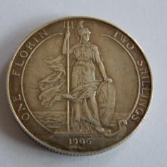 Moneda argint 1 florin /2 shillings 1910, Europa